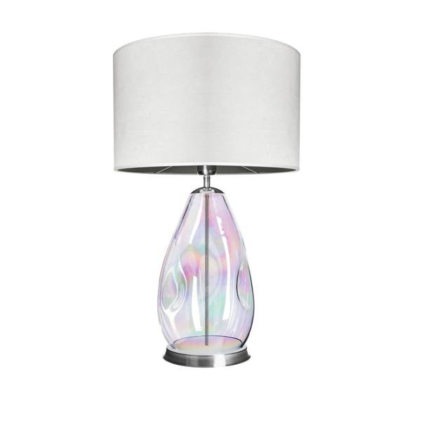 FAMLIGHT Storm S Table White Lister Pearl Stainless Steel