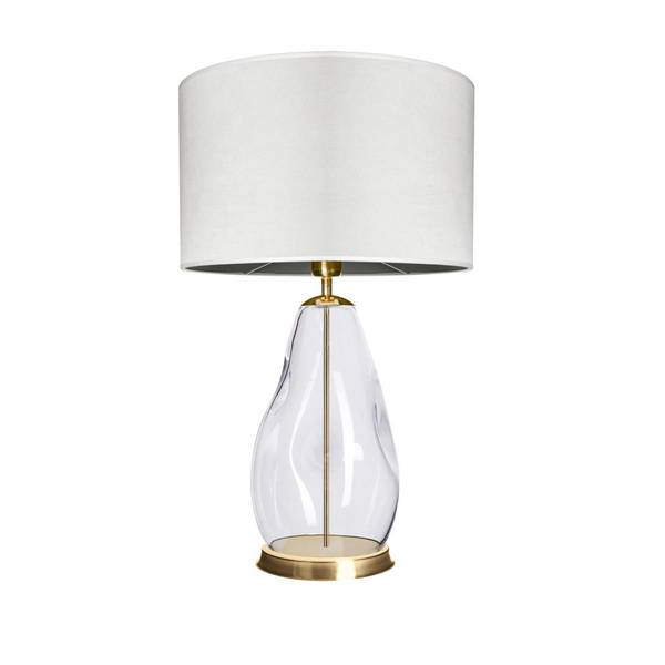 FAMLIGHT Storm S Table White Transparent Brass