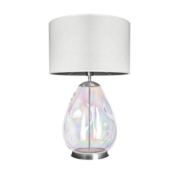 FAMLIGHT Storm L Table White Lister Pearl Stainless Steel